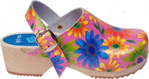 Cap3 Clogs Flower Host (giels') - Pink/multi