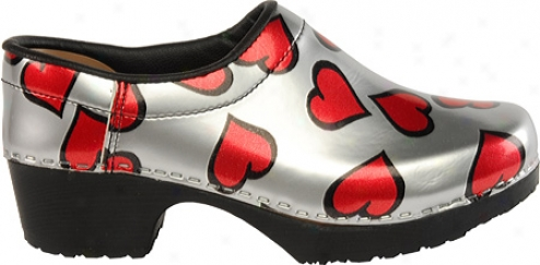 Cape Clogs Hearts (women's) - Red/silver