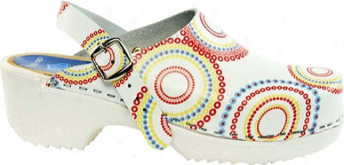Cape Clogs Lollipop Adjustable (women's) - White/multicolored