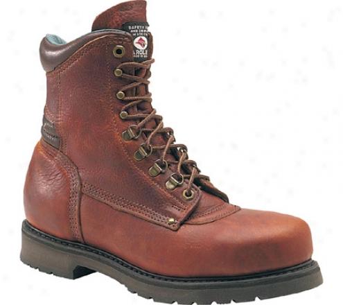 """carollna Domsstic 8"""" Plain Toe St 1809 (men's) - Amber Gokd Leather"""