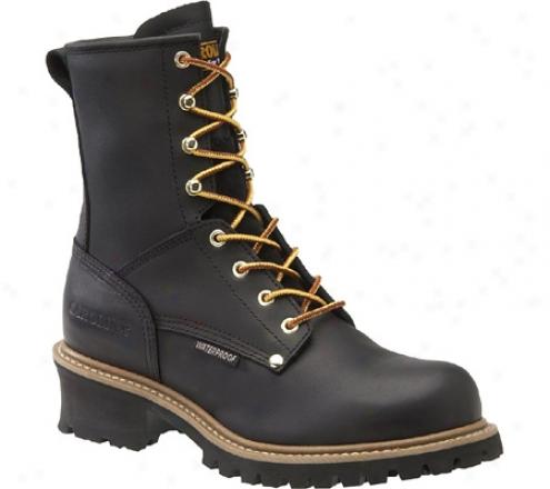 Caroliba St 600g Plain Toe Logger 8 (men's) - Black Leather