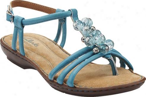 Clarks Brisk Bangle (women's) - Turquoise Leather