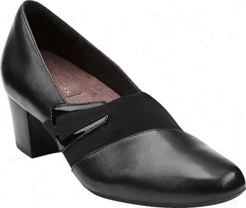 Clarks Levee Bank (women's) - Black Leather