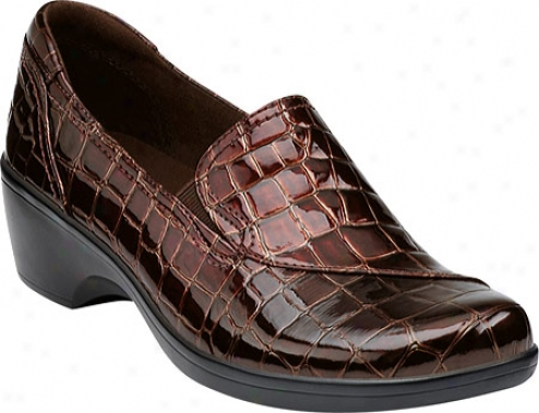 Clarks May Poppy (women's) - Brown Patent Croco