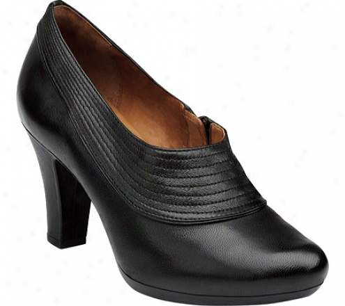 Clarks Society Ascot (women's) - Black Leather