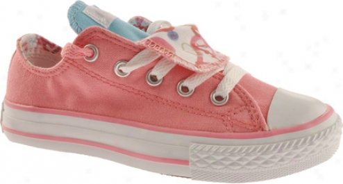 Converse Chuck Taylor All Fate Double Tongue Ox (children's) - White/geranium Pink
