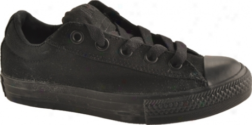 Converse Chuck Taylor All Star Street Ox (children's) - Black Monochrome