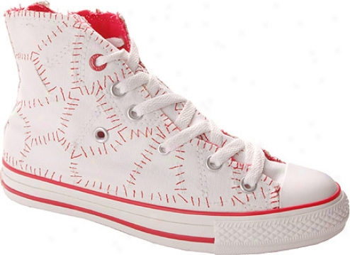 Converse (product) Red Chuck Taylor All Star 100 Mend It Hi Top - White/red Canvas
