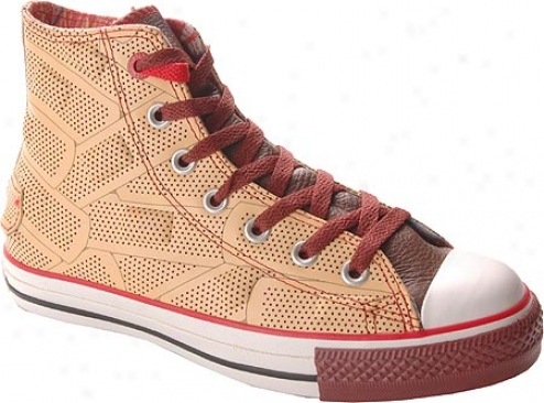 Converse (product) Red Chuck Taylor All Star Drx Hi Top - Brown/black Leather