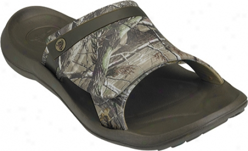 Crocs Abf Snap Slide Realtree (men's) - Chocolate/chocolate