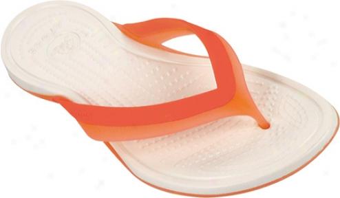 Crocs Adrina Flip (women's) - Grapefruit/oyster