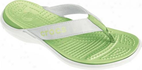 Crocs Capri (women's ) - White/celery
