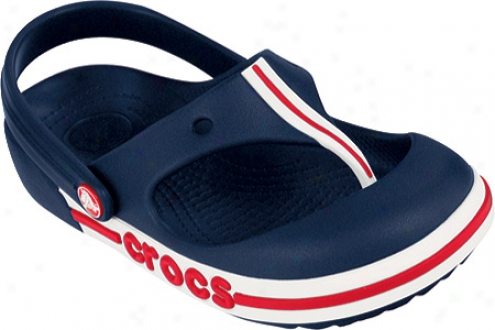 Crocs Crocband Toe Bumper Flip (infants') - Navy/red