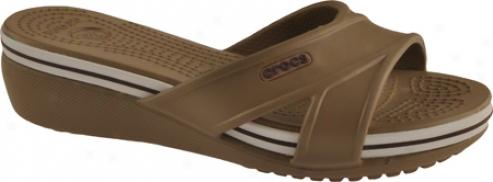 Crocs Crocband Wedhe (women's) - Khaki/khaki
