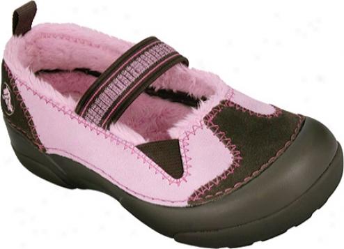 Crocs Dawson Mary Jane (infany Girls') - Chocolate/bubblegum