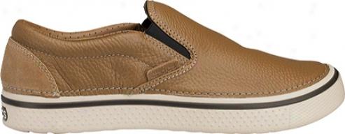 Crocs Hover Slip On Leather (men's) - Hazelnut/stucco