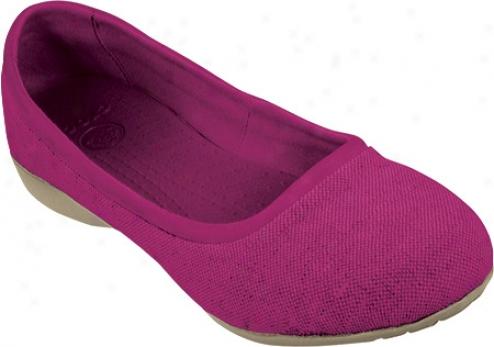 Crocs Leigh Flat (women's) - Berry/ntural