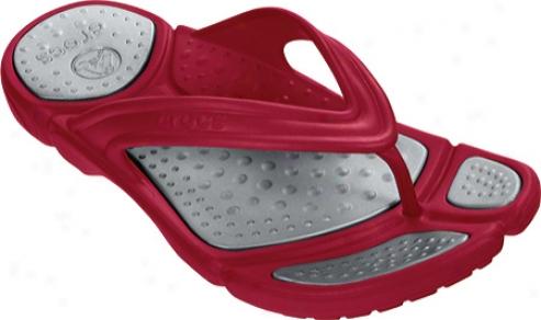 Crocs Prepair Ii Flip (men's) - True Red/silver