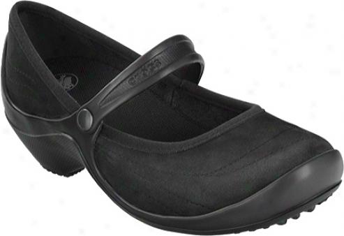 Crocs Wrapped Wedge (women's) - Black/black