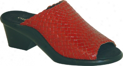 Curvetures Helen 401 (women's) - Red Woven Leather