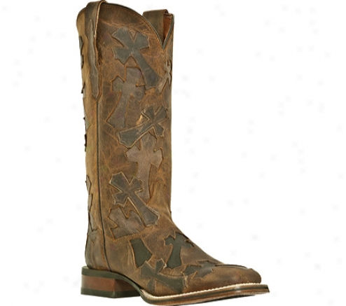 Dan Pot Boots Four Corners Dp2880 (women's) - Tan Madcat Leather/cross Overlays