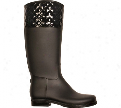 Dav Quilted English Solid (women's) - Matte Black Pvc