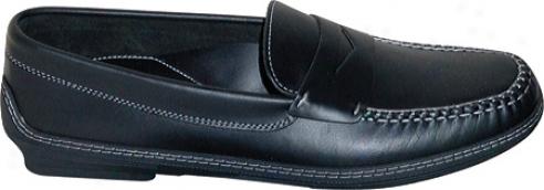 David Spencer Key West (men's) - Black Waxy Leather