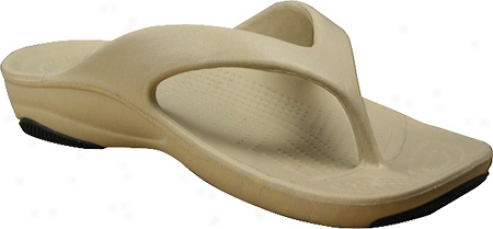 Dawgs Flip Flop (women's) - Tan/black