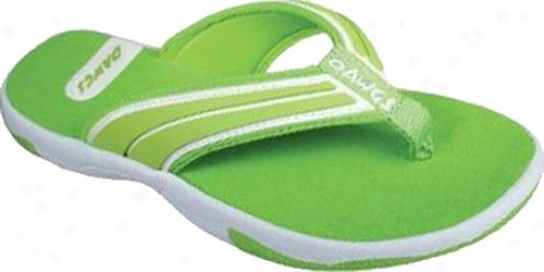 Dawgs Sporty Fli; Flop (women's) - Lime Green