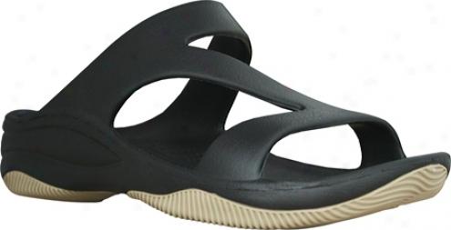 Dawgs Z Sandal/rubber Sole (women's) - Black/tan