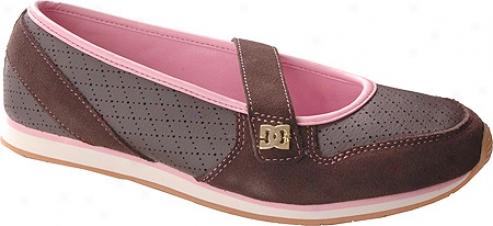 Dc Shoes Melrose (women's) - Dark Chocolaate/pink