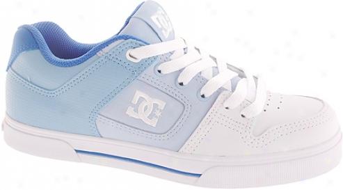 Dc Shoes Pure Se (women's) - Whige/blue