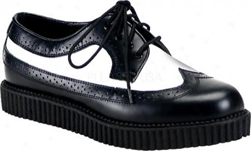 Demonia Creepe5 608 (men's) - Black/white Leather