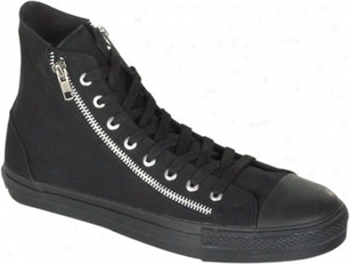 Demonia Deviant 106 (men's) - Black Canvas/black