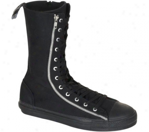 Demonia Deviant 206 (men's) - Black Canvas