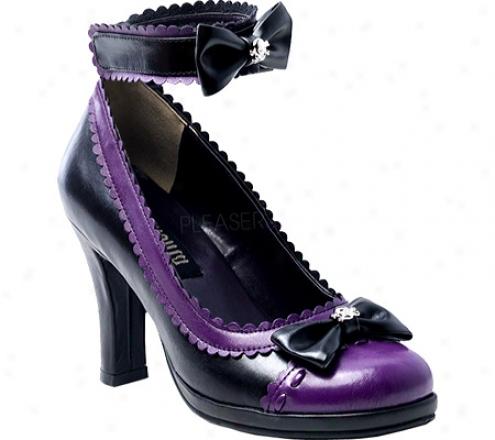 Demonia Glam 40 (women's) - Black/purple Pu