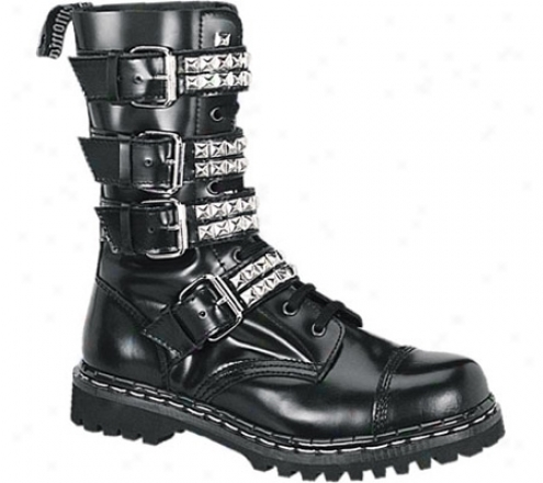 Demonia Gravel 10s (men's) - Black Leather