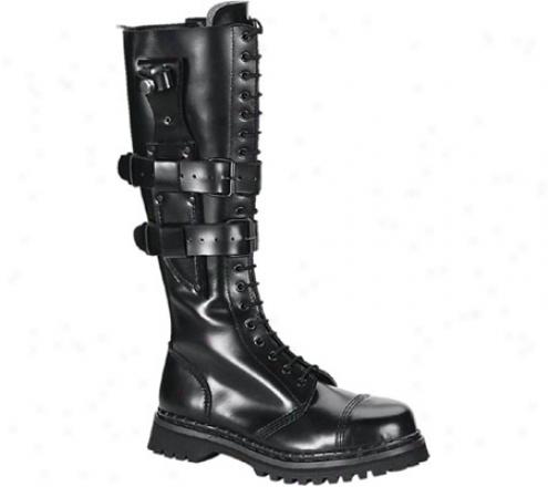 Demonia Predator (men's) - Black Leather