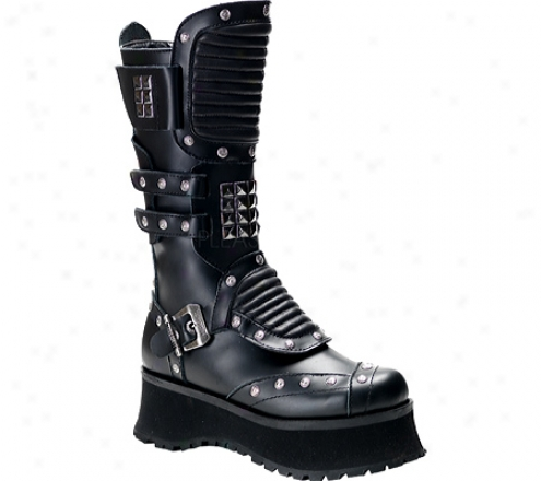 Demonia Ravage 303 (men's) - Black Leather
