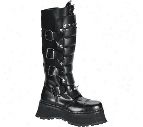 Demonia Ravage Ii (men's) - Black Leather