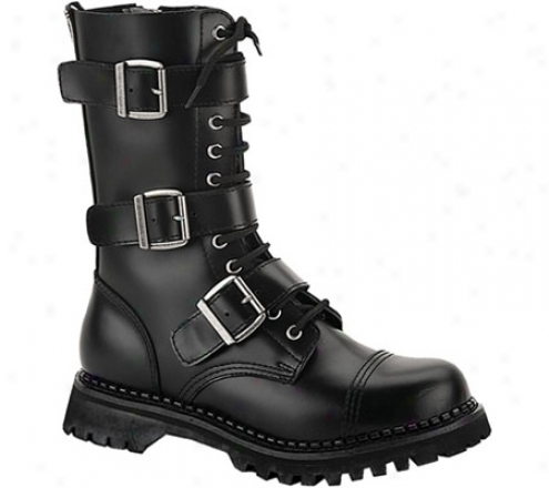 Demonia Roit 12 (men's) - Black Leather