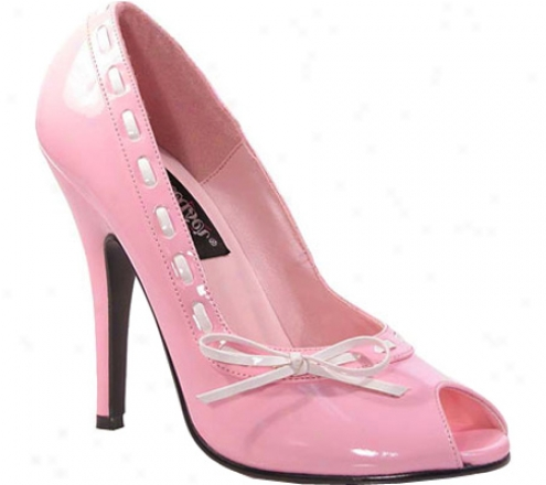Demonua Seduce 219 (women's) - Baby Pink/white Patent