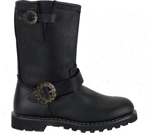 Demonia Steam Profit (men's) - Black Leather
