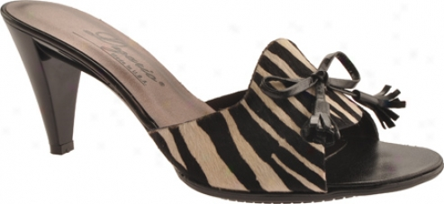 Dezario Agnes (women's) - Black/zebra Calf Hair
