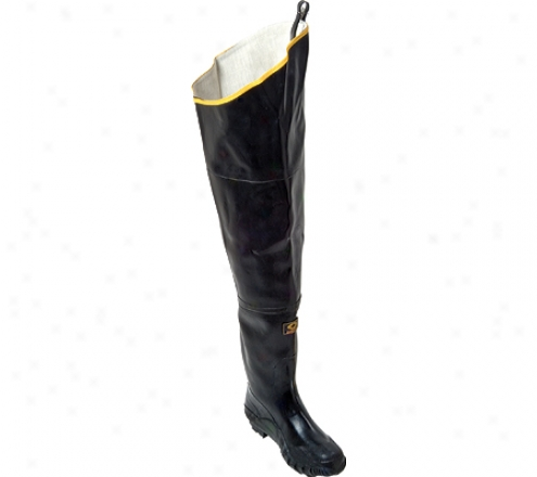 Rhombus Rubber Products Plain Toe Hip Boot 28 (men's) - Black