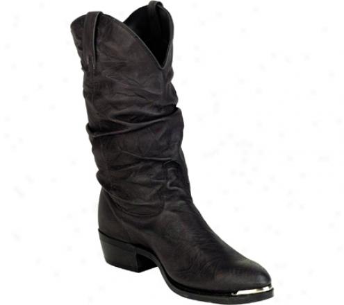 Dingo Slouch Pigskin (men's) - Black Hornback