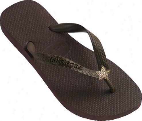 Dini's Los Angeles CrystalS tars (women's) - Brown
