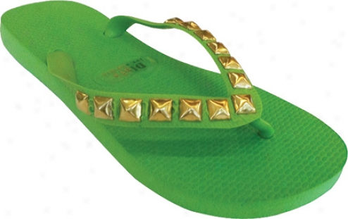 Dini's Los Ageles Pyramid Studs (women's) - Spring Green
