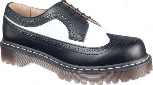 Dr. Martens 3989bwsm 5-eyelet Broque - Black/white Smooth Leather