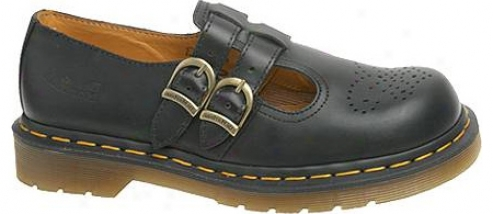 Dr. Martens 8065 Double Strap Mary Jaane Dml (women's) - Black Smooth